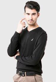 Sweater Nautica Negro - Calce Regular