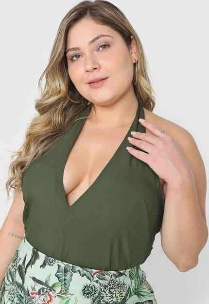 Colcci Blusa Frente Única Colcci Recorte Verde lEPNe