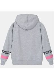 Poleron Niña Minnie Print Gris Disney
