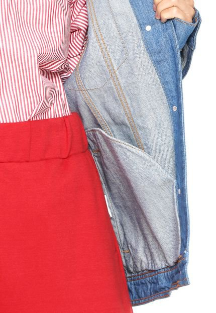 Colcci Jaqueta Jeans Colcci Lisa Azul