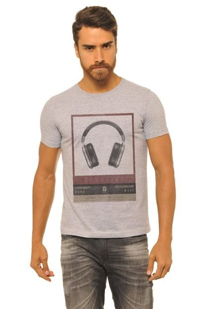 Camiseta Masculina Joss Mescla Equalize Cinza