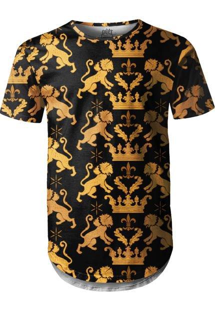 Camiseta Longline Over Fame Leão Real Preta
