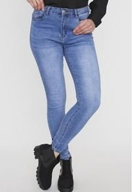 Jeans Skinny Azul Medio Corona