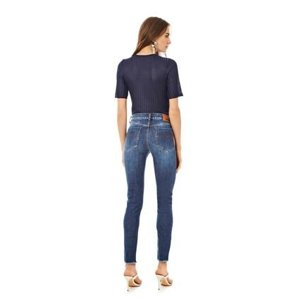 IODICE Calca Iodice Skinny Cos Intermediario Bolso Bordado Jeans kOid2