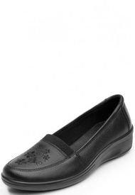 Zapato Cuero Enya Negro Flexi