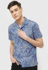 Camisa Jack & Jones Jprdale Resort Shirt S/S Pre Azul - Calce Regular