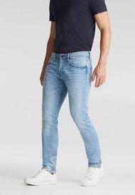Jeans Hombre Elásticos Con Algodón Ecológico Celeste Esprit