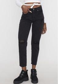 Jeans Mom II Negro  Corona