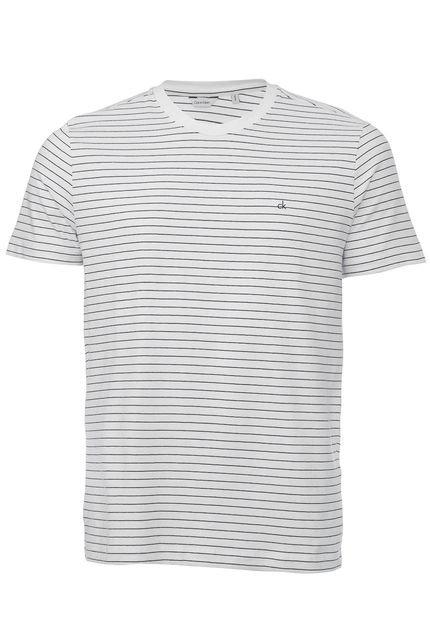 Camiseta Calvin Klein Listrada Branca