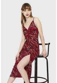 Vestido Print Cebra Rojo Nicopoly