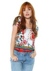 Camiseta Desigual Blanco-Multicolor