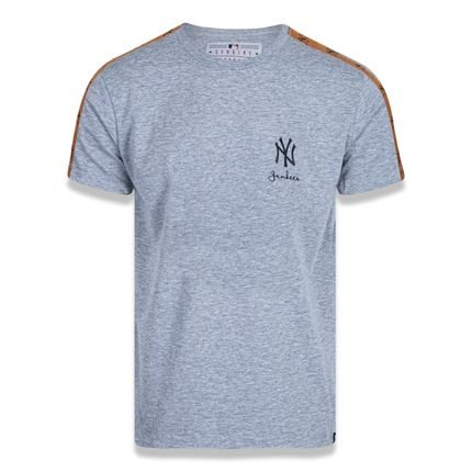T-shirt New Era Regular New York Yankees Mescla Cinza