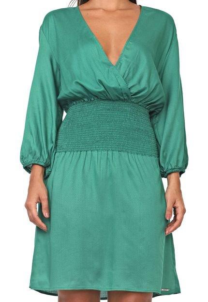 Colcci Vestido Colcci Curto Texturas Verde