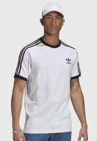 Polera adidas originals 3-STRIPES TEE Negro - Calce Regular