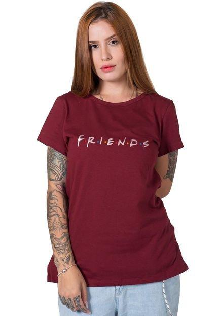 Stoned Camiseta  Friends Bordô GqcOs