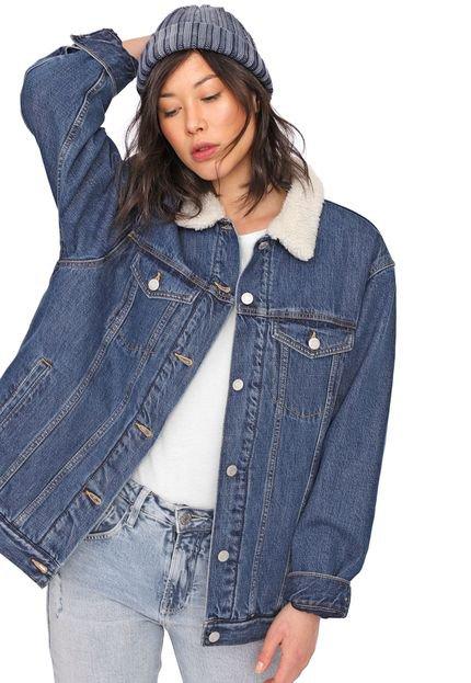 Menor preço em Jaqueta Jeans GAP Pelo Azul