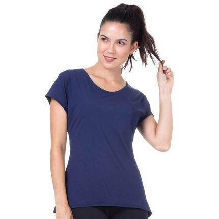 Marcyn Fitness Camiseta Baby Look Marinho - 598.822 Marcyn Fitness Camisetas Fitness Azul lwPf7