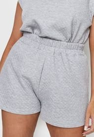 Short Missguided Plus Quilted Shorts Gris - Calce Holgado
