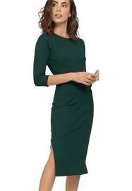 Vestido Largo Para Mujer Verde Botella Rutta