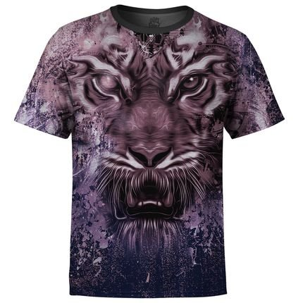 Camiseta Over Fame Tigre Tie Dye Md04