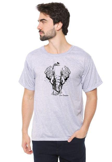 Camiseta Eco Canyon Elefante Cinza
