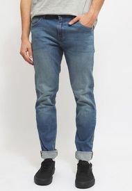 Jeans Wrangler Larston Azul - Calce Slim Fit