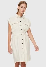 Vestido Vero Moda Blanco - Calce Regular