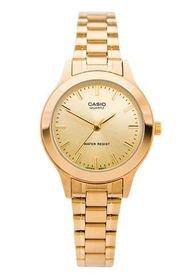 Reloj De Lujo Dorado Casio