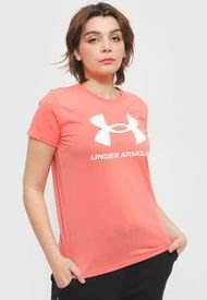 Polera Under Armour Live Sportstyle Graphic SSC Rosa - Calce Regular