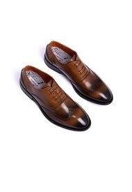 Zapatos Formales 100% Cuero Marrón Ambitious FO-9711-5686am