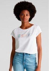 Polera Logo Estampado Blanco Esprit