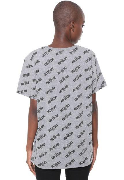 Colcci Camiseta Colcci Lettering Cinza