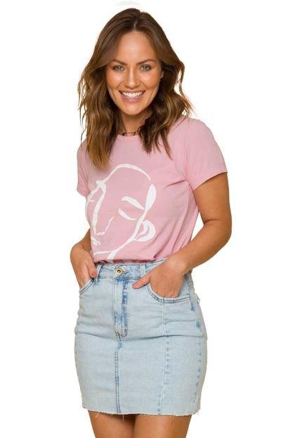 Sislla T-Shirt Retrato Sislla Rosa XVL8F