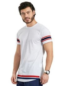 Camiseta Para Hombre Blanco MP