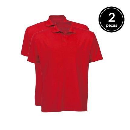 Kit Basicamente. 2 Camisas Polo Vermelho