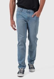 Jeans Wrangler Greensboro Straight Celeste - Calce Ajustado