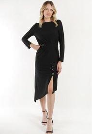 Vestido Con Aro Romana Negro Night Concept