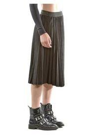 Falda Italiana Plizada Negro Bous
