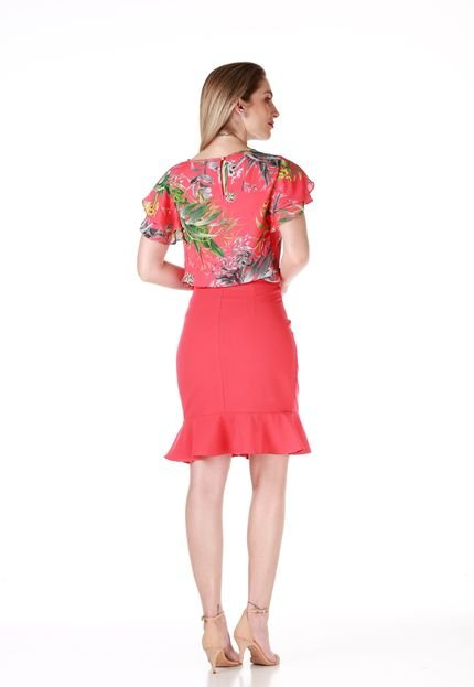 Sideral Blusa Sideral Estampa Floral Rosa zPP1B