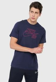 Camiseta Azul-Fucsia Nike