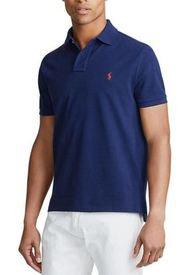 Polera Custom Slim Fit Mesh Azul Polo Ralph Lauren