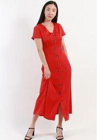 Vestido Satin Rojo Night Concept