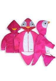 Chaqueta Impermeable Pingüino Fucsia