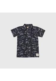 Camisa Dinos Polo Negro Up Baby