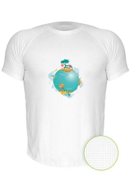 Camiseta Manga Curta Nerderia Planeta 3 Branco