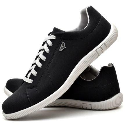 Juilli Sapatênis Sapato Casual  Com Cadarço JUILLI 900MR Preto rbgMc