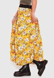 Falda Wados Plisada Amarillo - Calce Regular