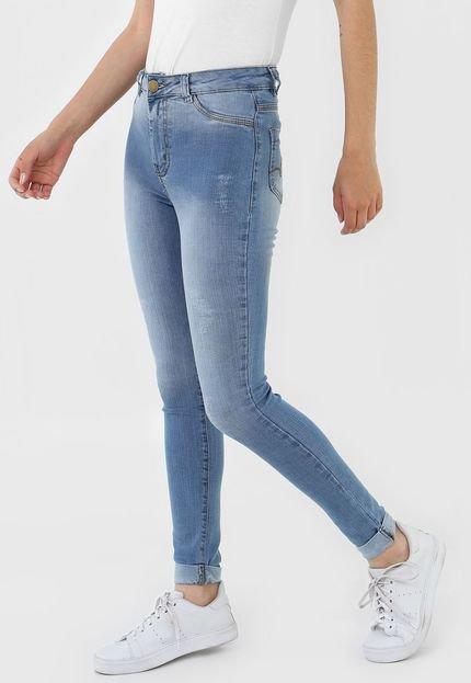 GRIFLE COMPANY Calça Jeans GRIFLE COMPANY Skinny Barra Italiana Azul 6sRne