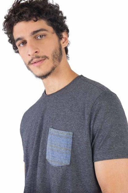 T-Shirt Lisa Com Bolso Grafite Grafite/G