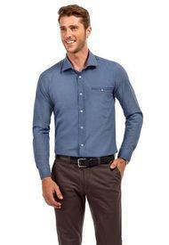 Camisa Manga Larga Estampada Luisiana Azul Ferouch